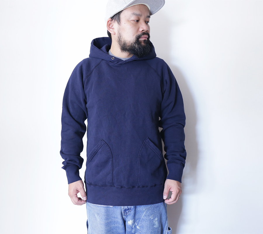 "VELVA SHEEN ""Blue Label""/10oz. PULLOVER HOODIE-Navy"