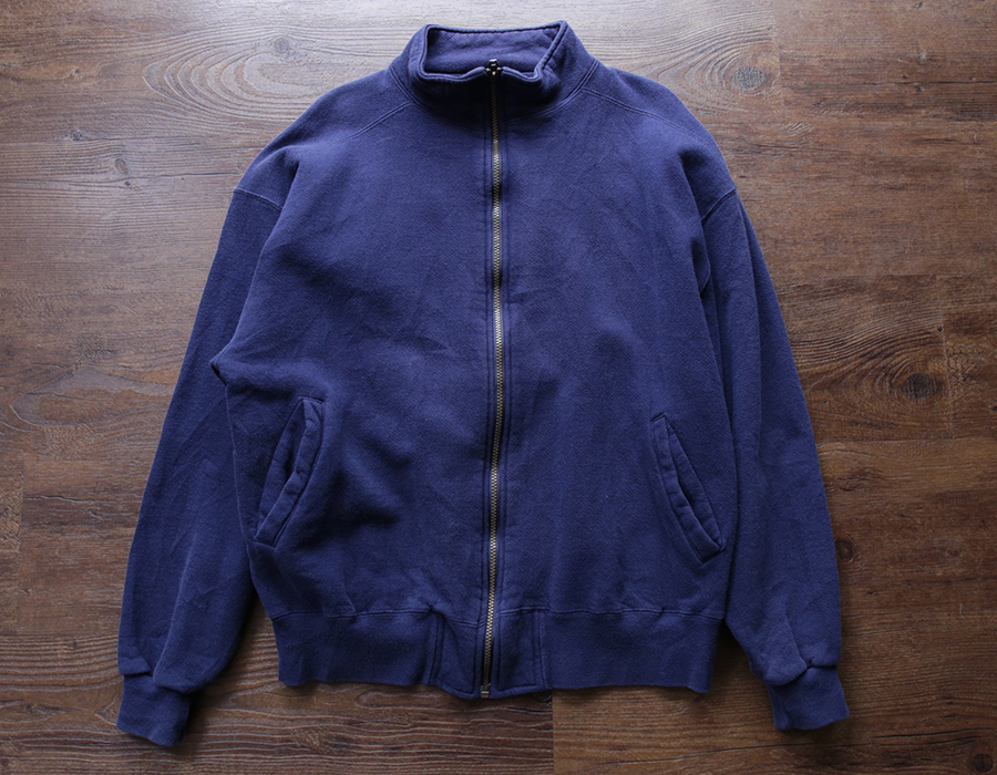 wax clothing USED / L.L.BEAN by RUSSEL ATHLETIC ZIP SWEAT