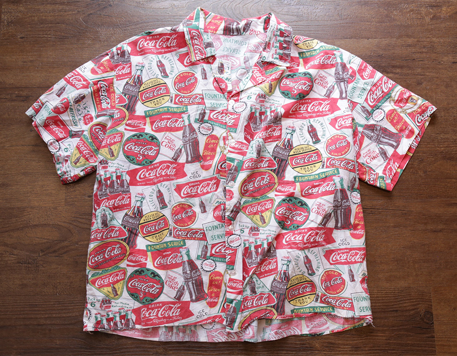 USED / COCA-COLA SHORT SLEEVE SHIRT