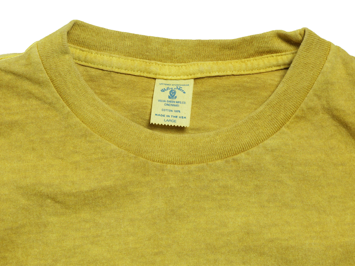 Velva Sheen SUMMER 16 COLLECTION PIGMENT DYED CREW NECK POCKET TEE color : Yellow