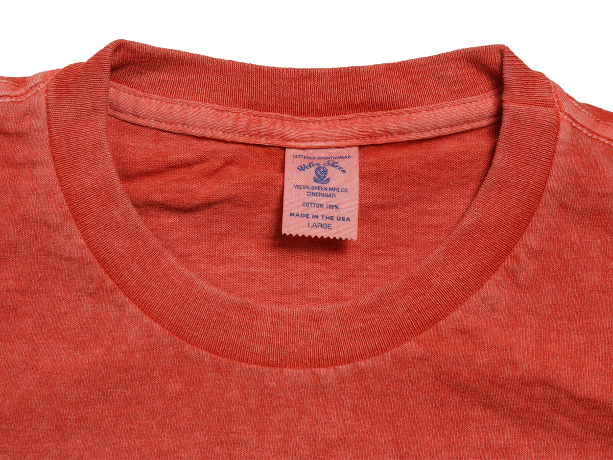 Velva Sheen SUMMER 16 COLLECTION PIGMENT DYED CREW NECK POCKET TEE color : Flamingo