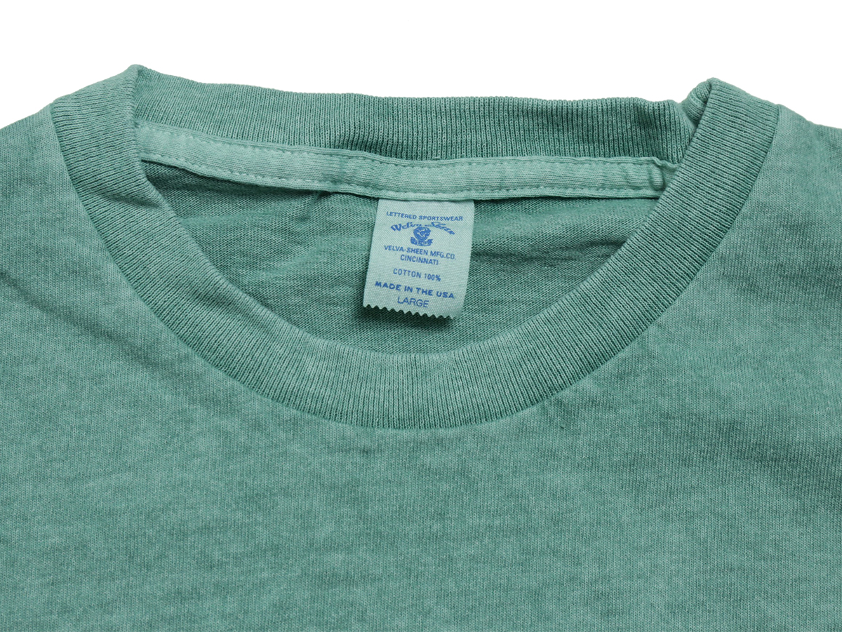 Velva Sheen SUMMER 16 COLLECTION PIGMENT DYED CREW NECK POCKET TEE color : Mint