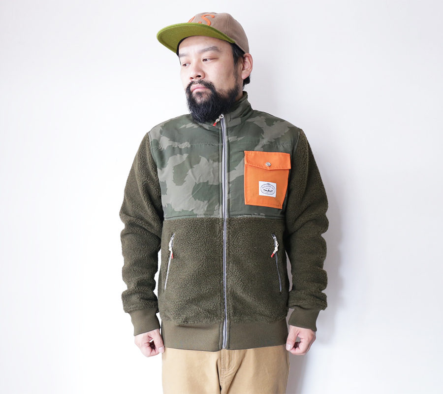 POLeR OUTDOOR STUFF FALL 16 COLLECTION HALF FLEECE JACKET color : Olive