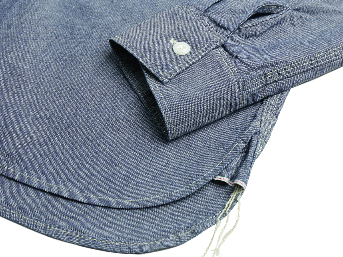 FIVE BROTHER / L/S CHAMBRAY WORK SHIRT - Blue  tail