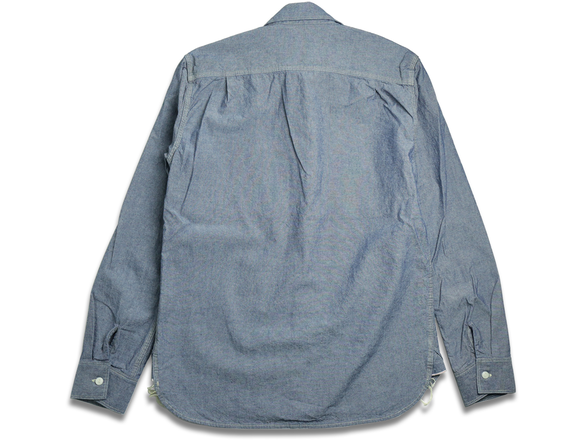 FIVE BROTHER / L/S CHAMBRAY WORK SHIRT - Blue  back