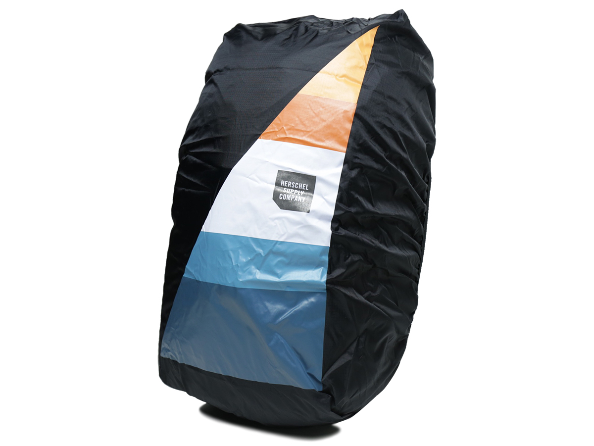 Zippered storage sleeve with stowable ripstop rain cover