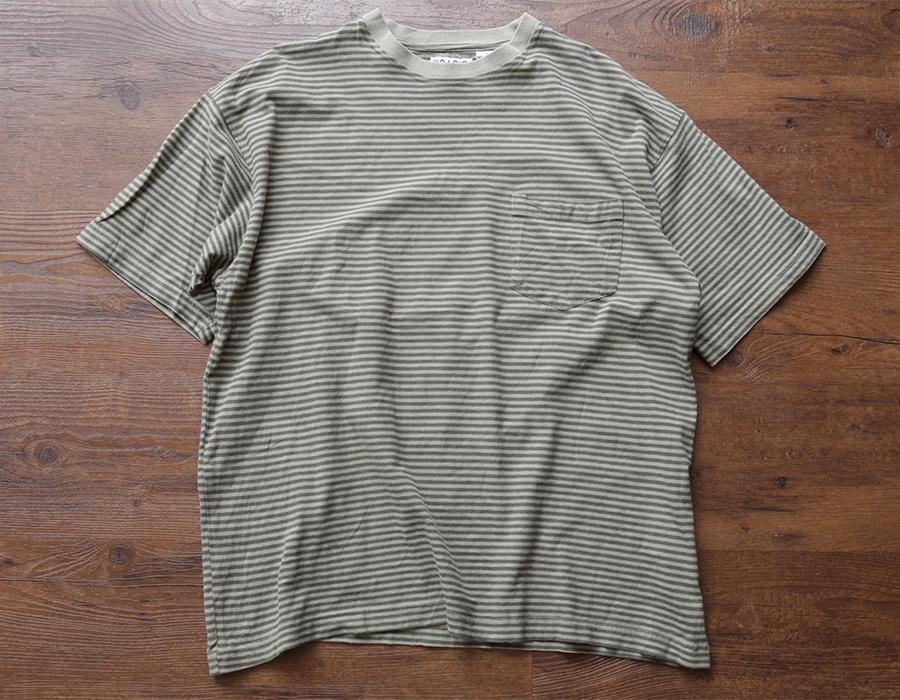 wax clothing USED / BORDER TEE