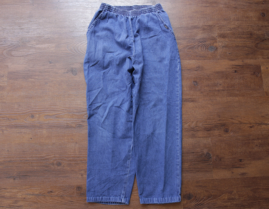 wax clothing USED / DENIM EASY PANTS