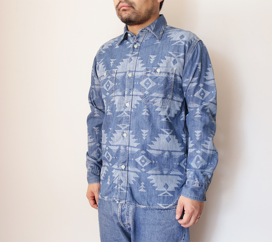 Snap / FIVE BROTHER / NATIVE DENIM WORK SHIRT - Bleach