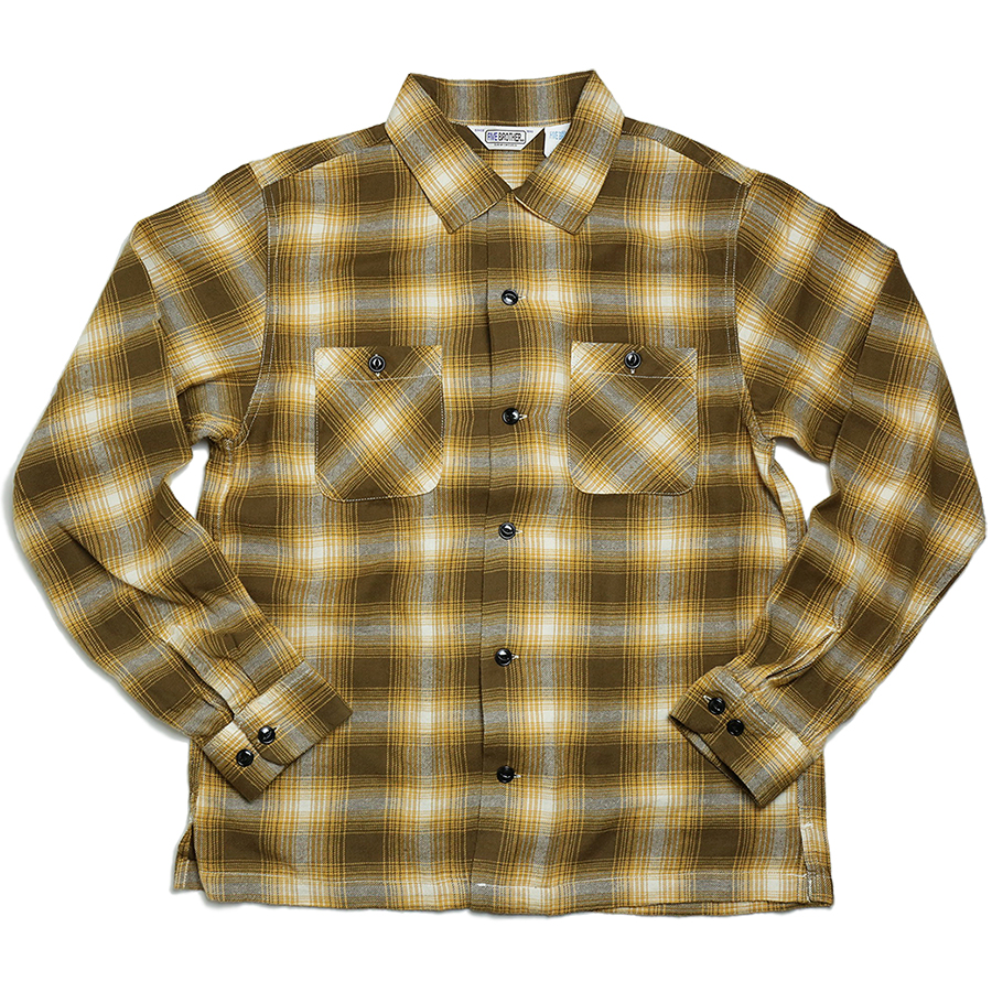 FIVE BROTHER 2016 AW LIGHT NEL ONE UP SHIRT color : Yellow Ombre