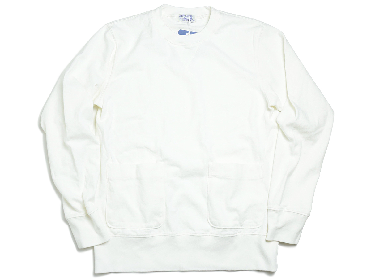 Velva Sheen AUTUMN 16 COLLECTION 8oz JERSEY CREWNECK SWEAT color : White