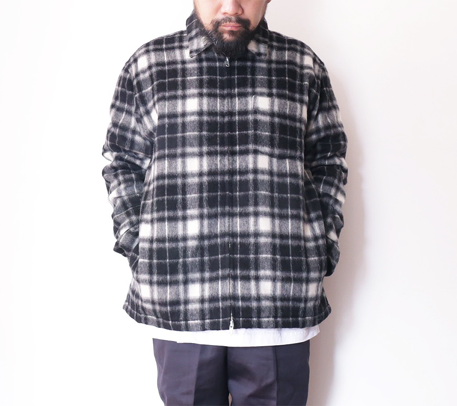 MAIDEN NOIR AUTUMN 2016  WOOL ZIP SHIRT  color : Black Plaid