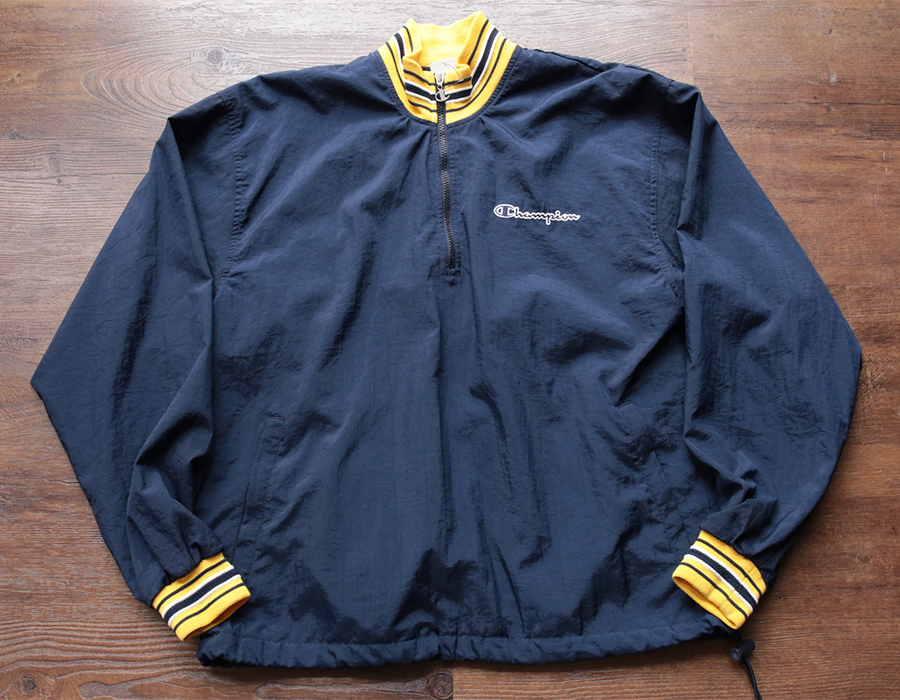 CHAMPION HALFZIP NYLON JACKET
