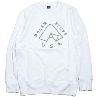 POLeR OUTDOOR STUFF  FALL 16 COLLECTION  TENT CREW NECK  color : White