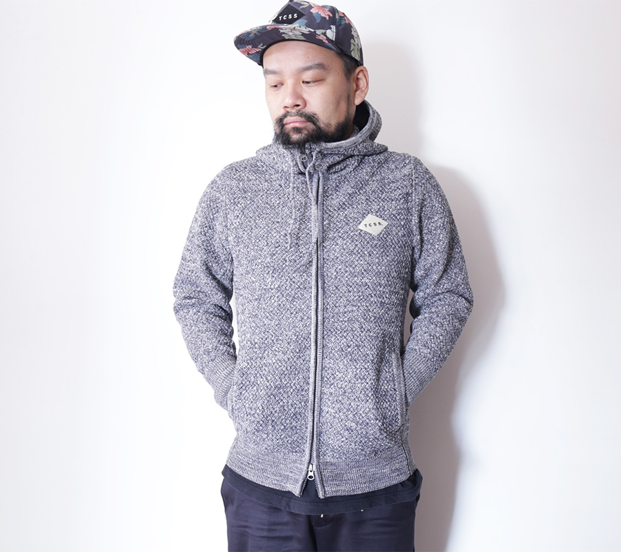 TCSS/the critical slide society FALL 2016  FRANKIE KNIT PARKA  color : Grey Marle