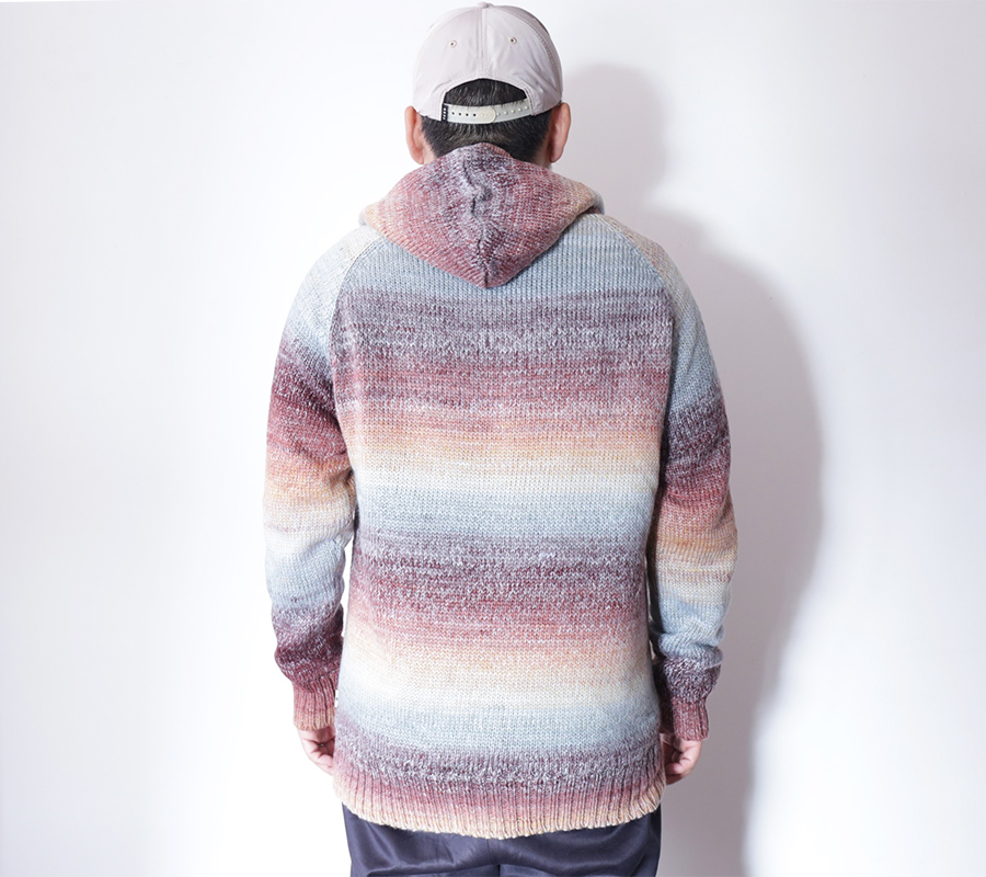 TCSS/the critical slide society FALL 2016 ESCAPEE HOODED KNIT color : Withered Rose