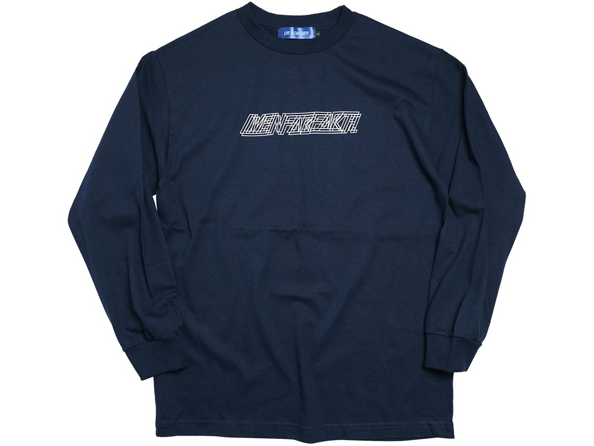 "L.I.F.E (LIVE IN FAB EARTH) AUTUMN & WINTER 2016 ""M101"" L/S T-SHIRT color : Navy"