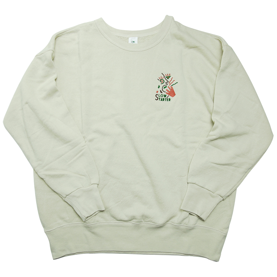 "GOOFY CREATION Pile Loop ""Yawn"" Crew Sweat color : Sand Beige"