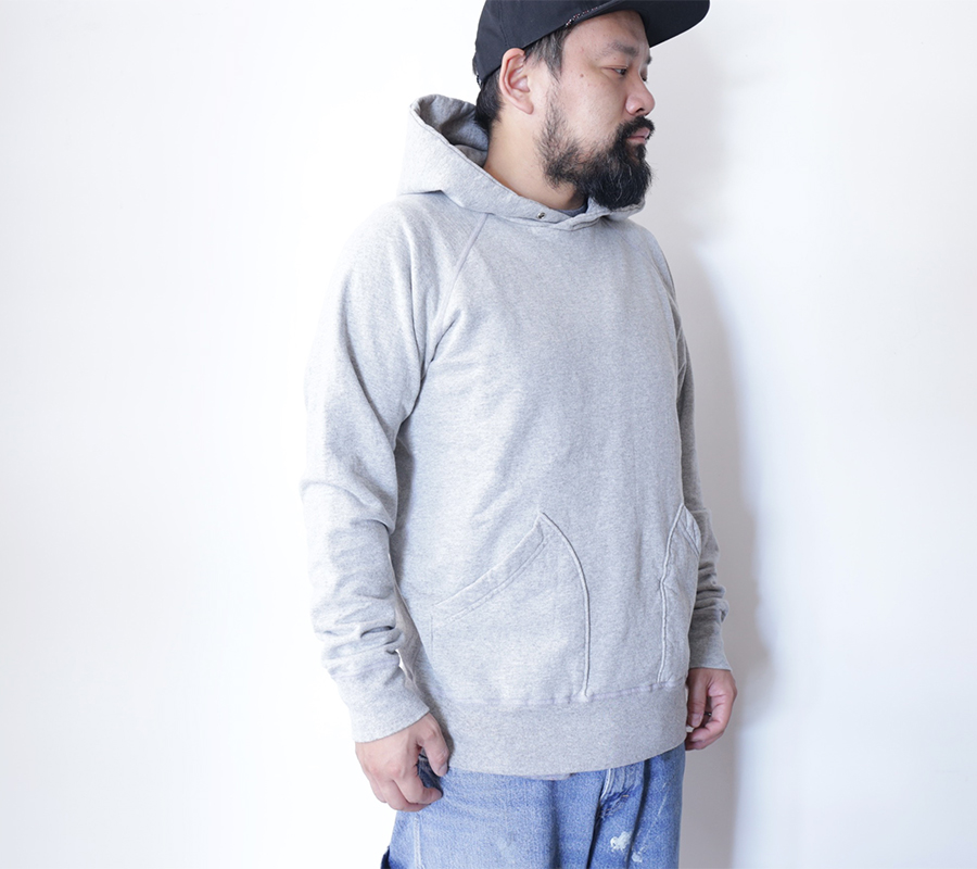 "VELVA SHEEN ""Blue Label""/10oz. PULLOVER HOODIE-Heather Grey"