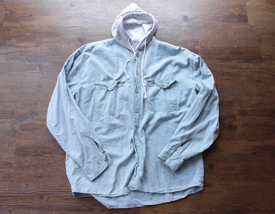 THREADS UNLIMITED HOODED CHAMBRAY SHIRTS USED CLOTHING COLLECTION vol. 9
