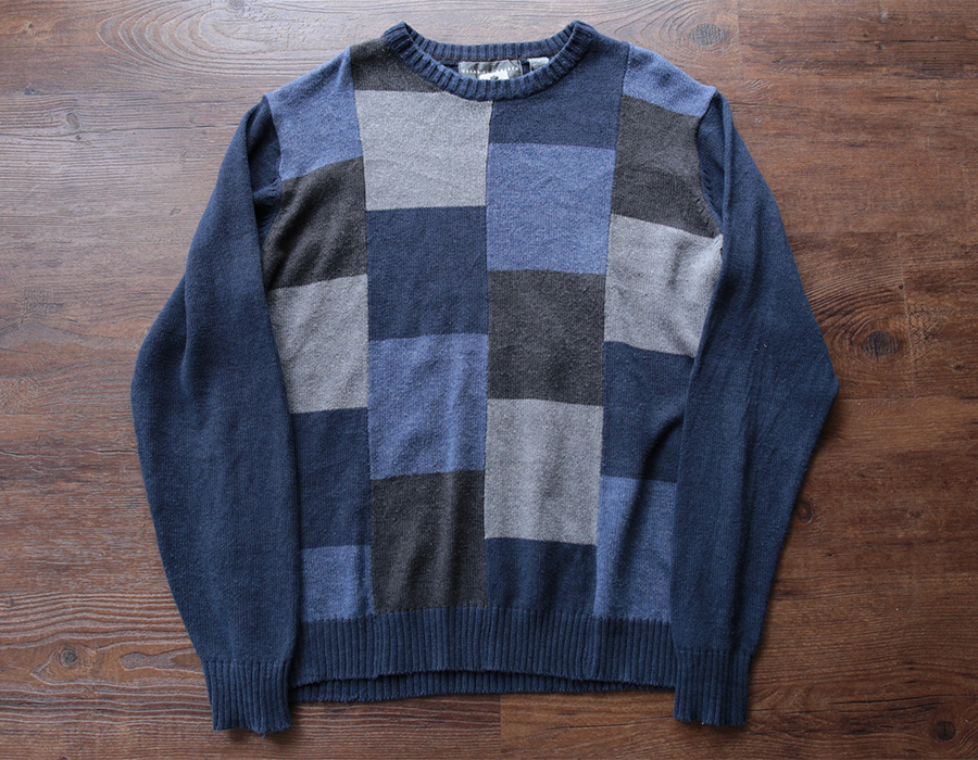 OSCAR DE LA RENTA PANNEL CREWNECK KNIT USED CLOTHING COLLECTION vol. 9