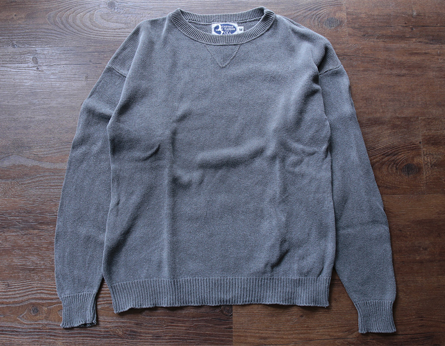 CASTINE HARBOR COTTON CREWNECK KNIT USED CLOTHING COLLECTION vol. 9