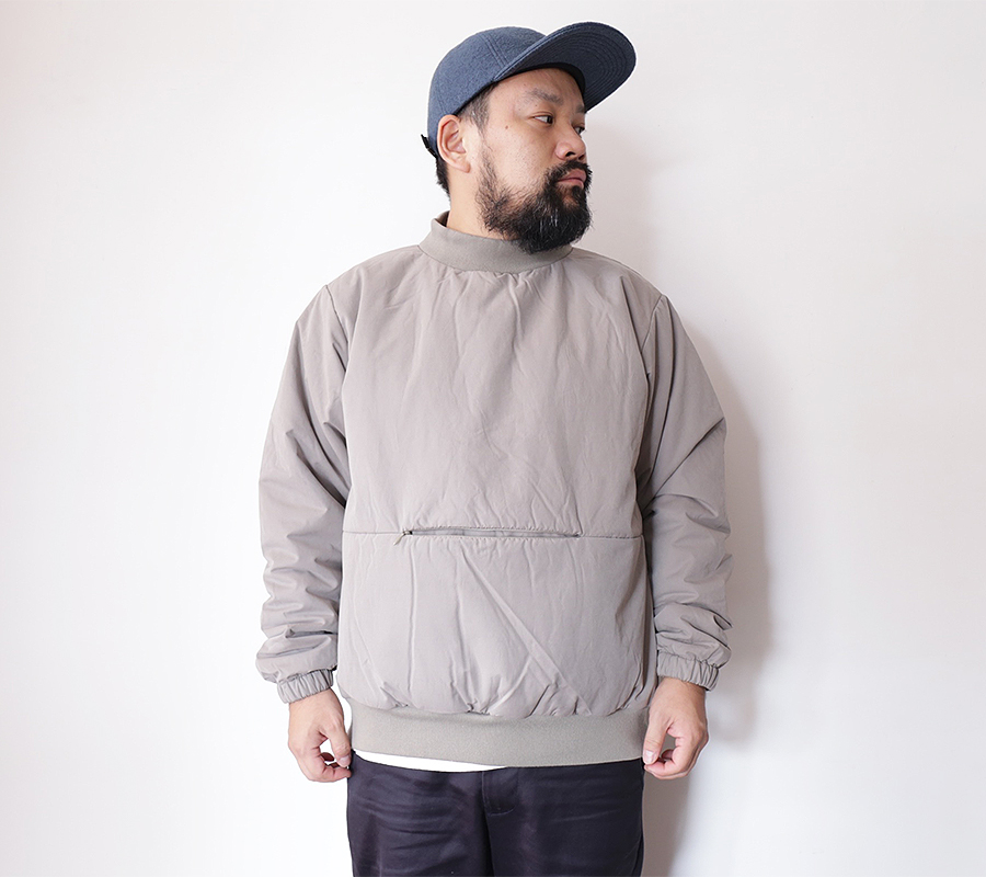 MAIDEN NOIR AUTUMN/WINTER 2016 INSULATED CREW color : Taupe