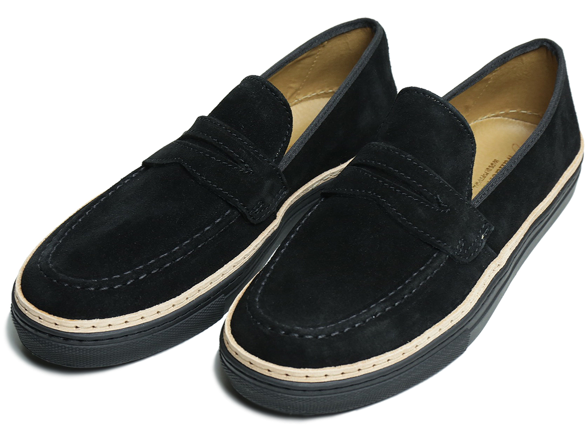 WANDER SHOES / FALL16  SUEDE PENNY LOAFERS  color : Black  MADE IN PORTUGAL
