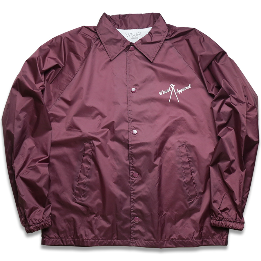 VISUAL Apparel / Nostalgic Coach Jacket - Maroon