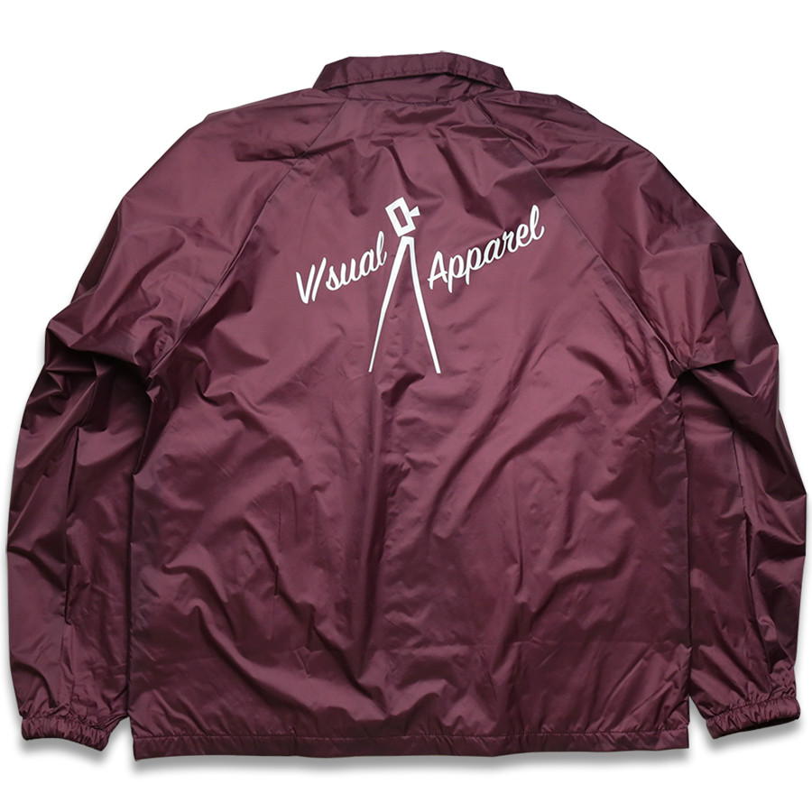 VISUAL Apparel / Nostalgic Coach Jacket - Maroon B