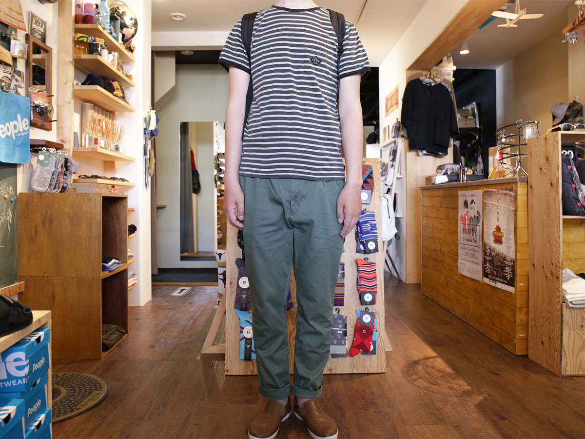 Snap TCSS/the critical slide society SPRING 2016 MR SKIDS CROP PANTS color : Cuctas(Olive Green)