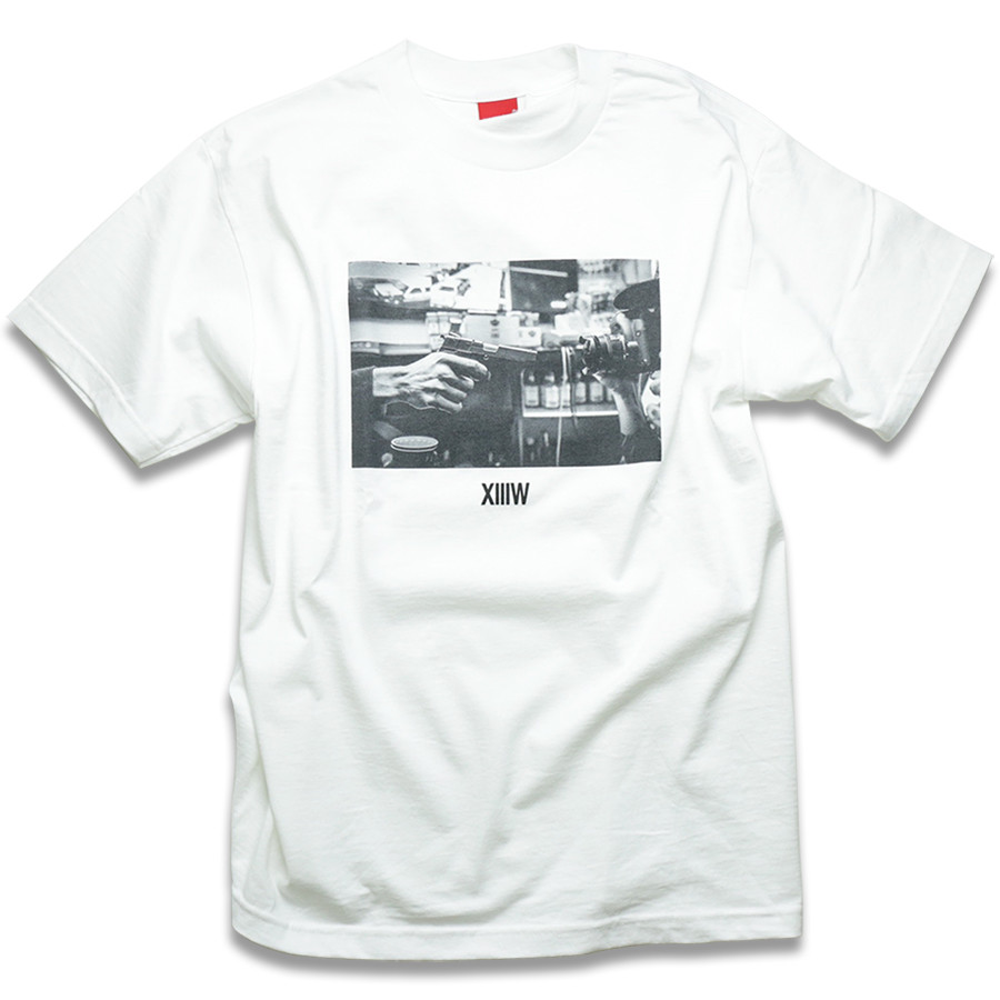 V/SUAL X 13TH WITNESS Stick Up Tee - White