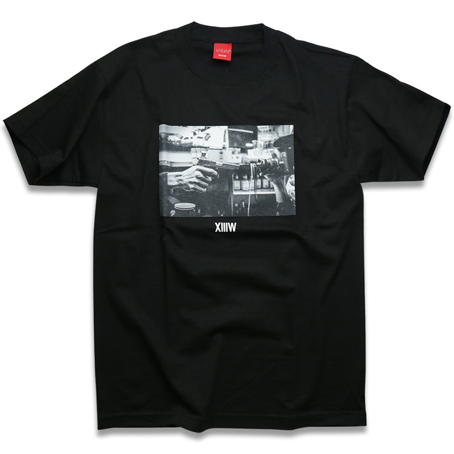 V/SUAL X 13TH WITNESS Stick Up Tee - Black