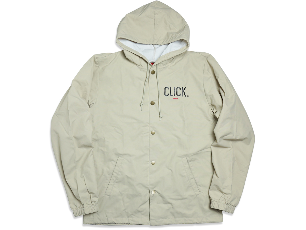 VISUAL Apparel / FALL 2016 CLICK HOODED COACHES JACKET color : Cream