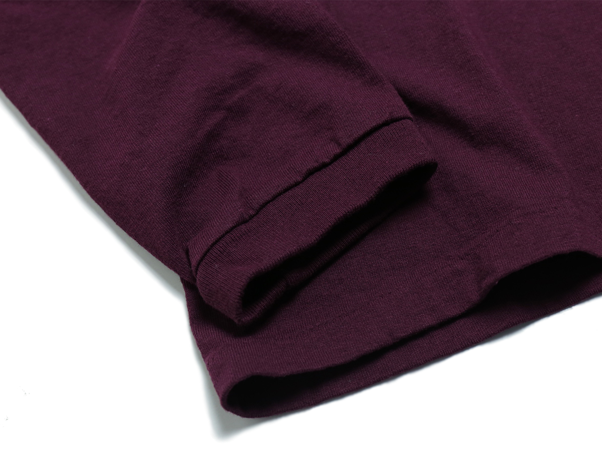 VELVA SHEEN [LIMITED EDITION]  TUBULER L/S POCKET TEE  color : Burgundy
