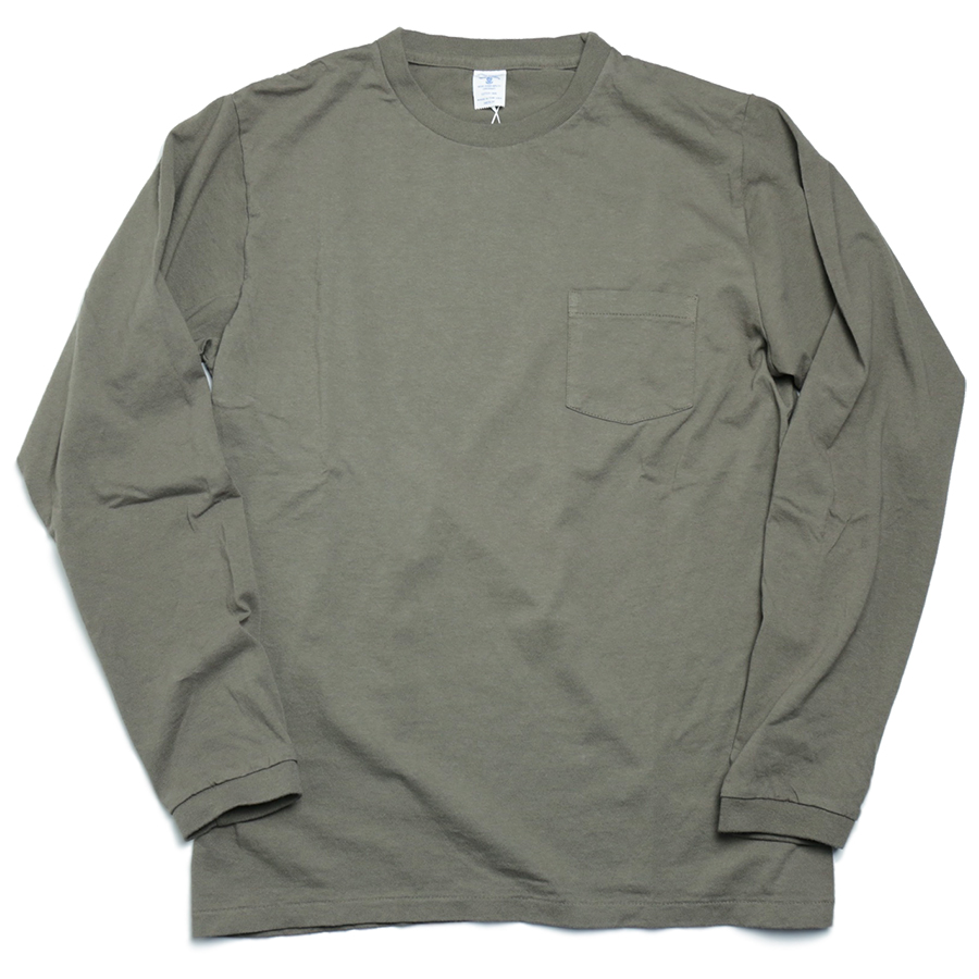 VELVA SHEEN [LIMITED EDITION] TUBULER L/S POCKET TEE color : Olive