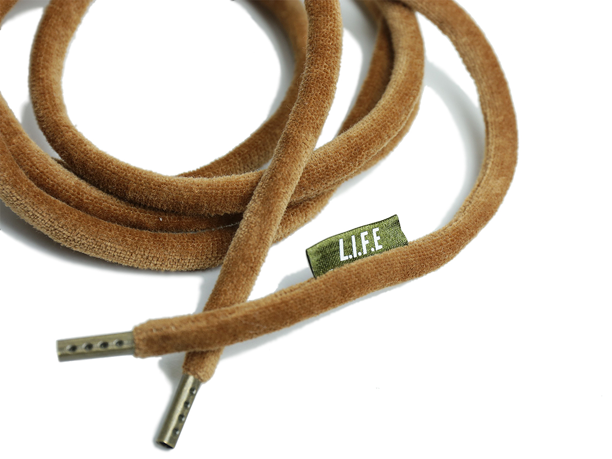 "L.I.F.E (LIVE IN FAB EARTH) AUTUMN & WINTER 2016 Shoelace belt ""KK"" color : Brown"