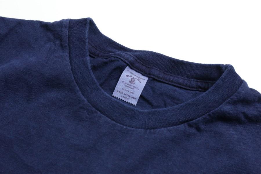 Velva Sheen / Indigo Dyed Pocket T 2