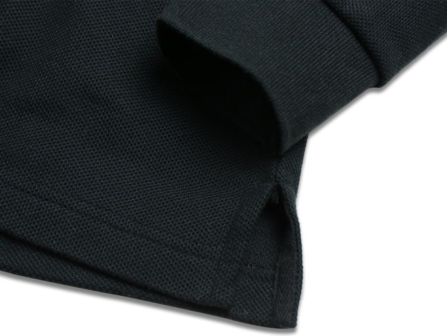 MAIDEN NOIR / PIQUE LS POLO - Black 3