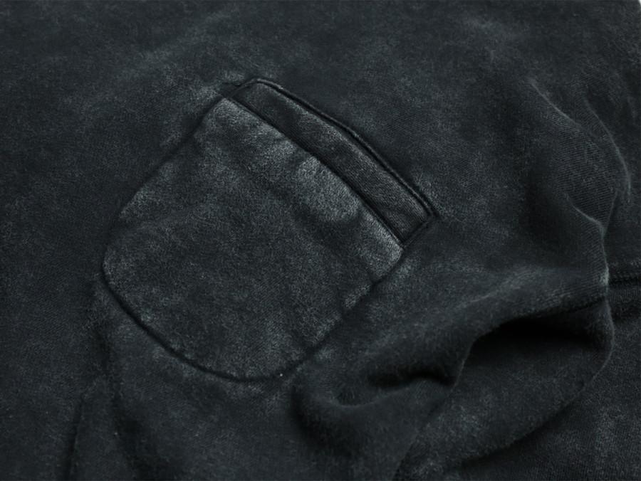 MAIDEN NOIR / ENZYME WASH MOCK HOODIE - Black 2