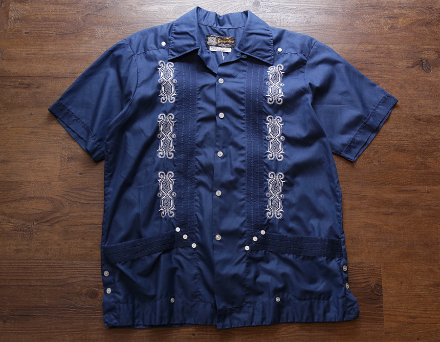 USED / GUAYA TECA CUBAN SHORT SLEEVE SHIRT