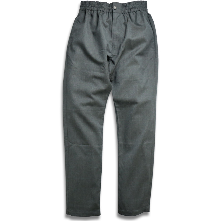 MAIDEN NOIR / ELASTIC WOOL PANTS - Grey Check