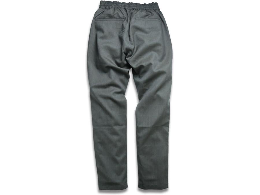 MAIDEN NOIR / ELASTIC WOOL PANTS - Grey Check 2