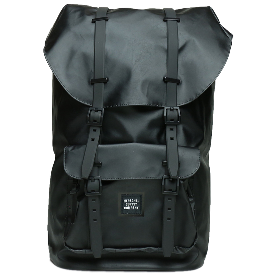 STUDIO COLLECTION / LITTLE AMERICA BACKPACK - Black Polycoat