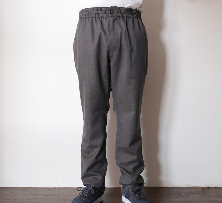 MAIDEN NOIR / SPRING 2016 / ELASTIC WOOL PANTS - Grey Check