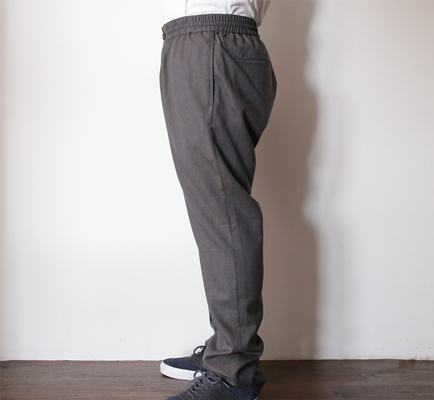 MAIDEN NOIR / SPRING 2016 / ELASTIC WOOL PANTS - Grey Check S