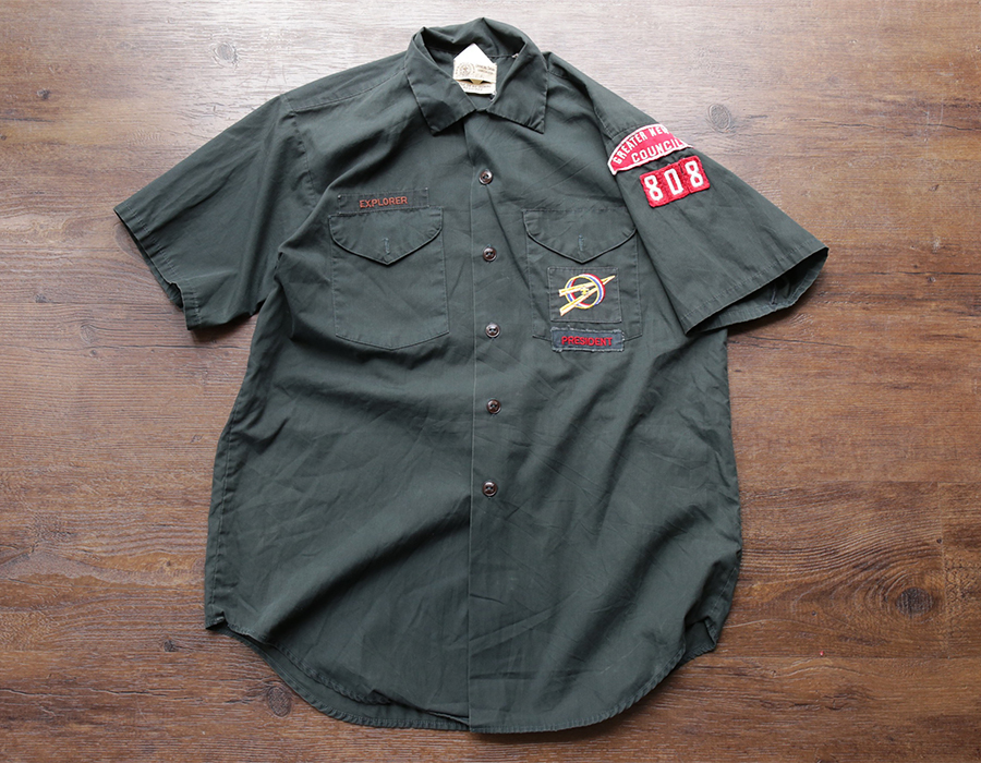 wax clothing USED / BOY SCOUT SS SHIRT
