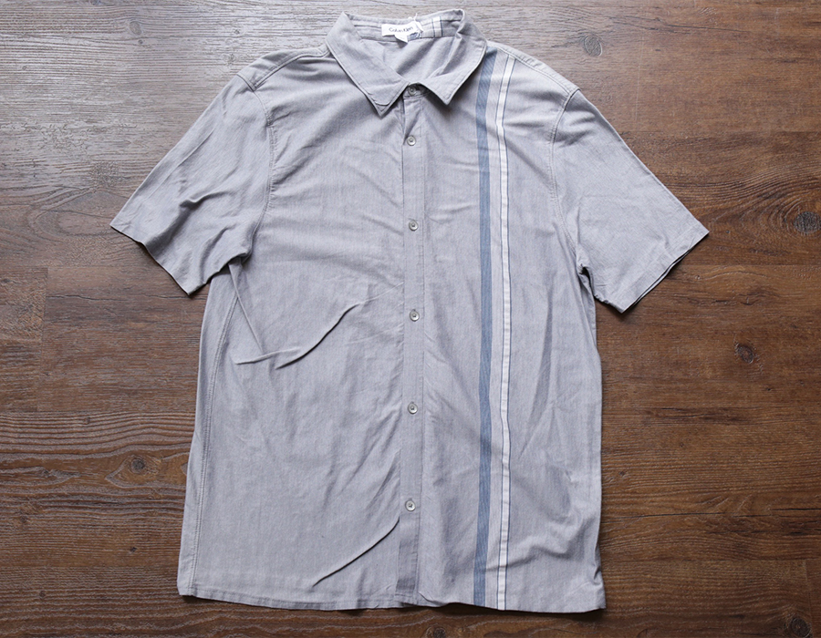 wax clothing USED / CALVIN KLEIN SS SHIRT