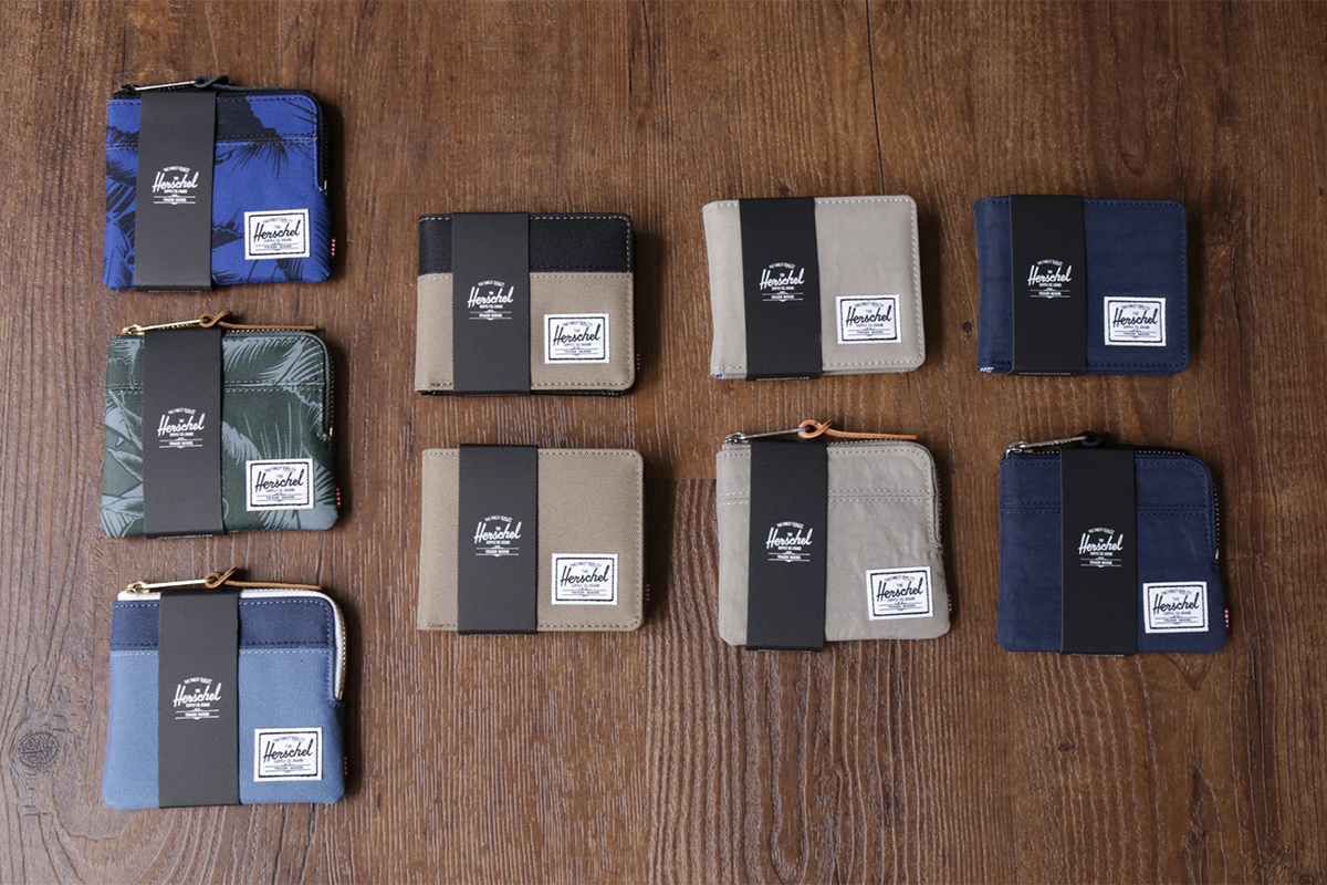 Herschel Supply Wallets JOHNNY, ROY + COIN, HANK + COIN