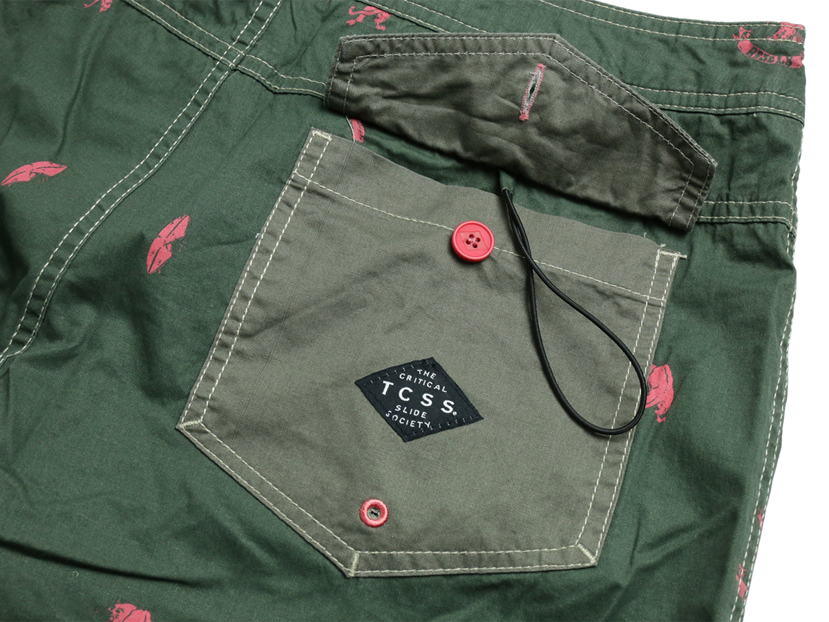 TCSS / WET CITY TRUNK - Thyme(Olive Green)  Back pocket